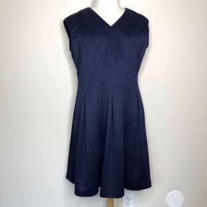 Gabby Skye Navy Blue Fit & Flare Dress
